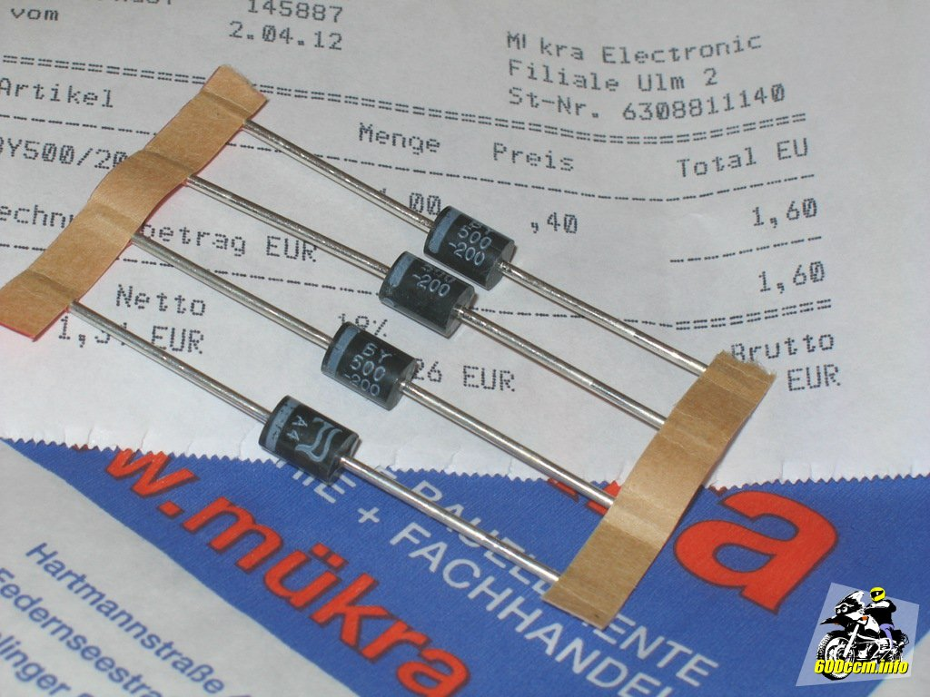 600ccm.info – LED-Blinker: Dioden im Kabelbaum der XJ 600 S