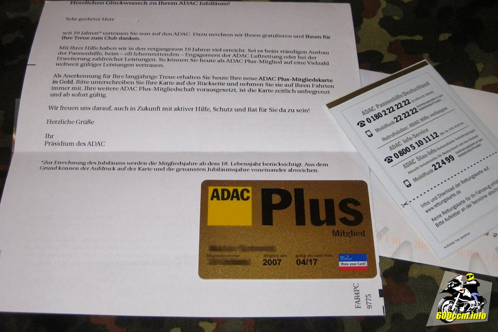 adac karte 600ccm.info – ADAC Mitgliedschaft – auch bei mir jetzt »goldig«