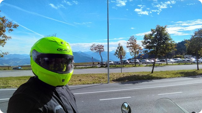 My first Deppenzepter-Selfie am Losenpass