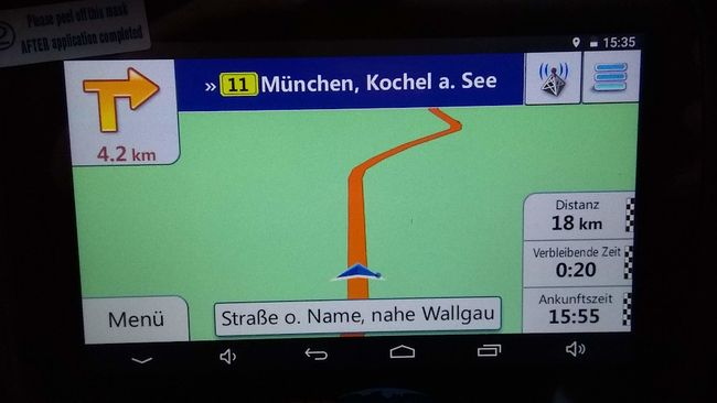 I went through Oberbayern on a road with no name...